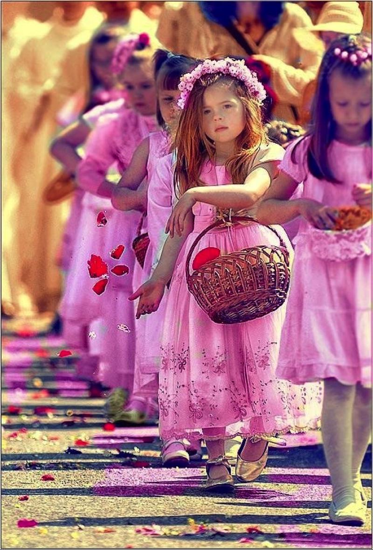 Vestido para daminha no tom rosa