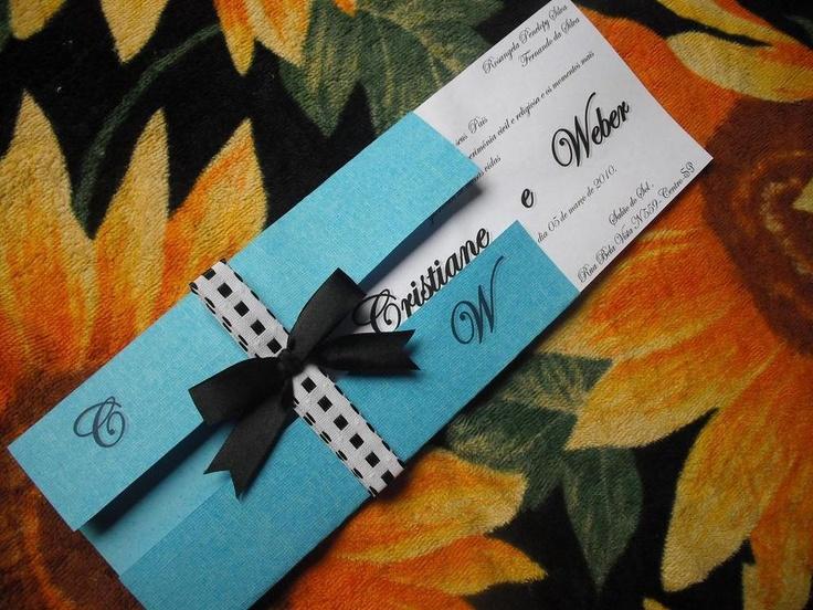 Convite de casamento Foto: Marina Cursino Vieira enviado para o Pinterest