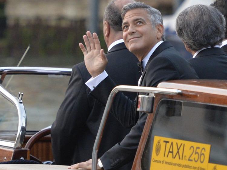 Chegada George Clooney ao hotel da cerimonia