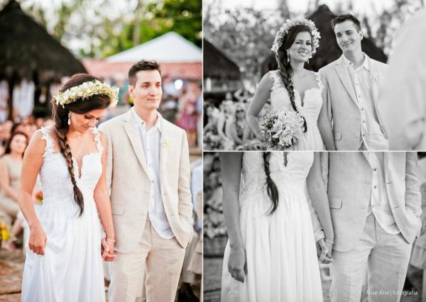 vestido de noiva no sitio