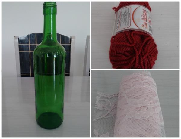Aprenda a customizar garrafas para decoraç u00e3o de casamento As Lembrancinhas de Casamento # Decorar Garrafas De Vidro Com Renda