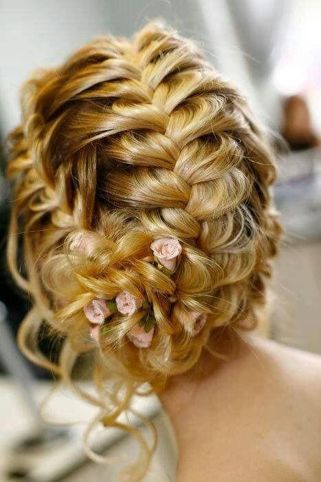 cabelo de noiva com trança