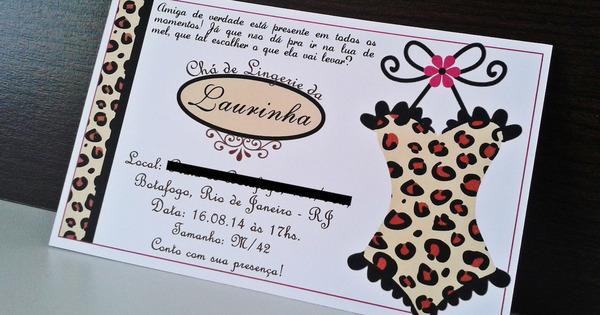 dce916633 Convite chá de lingerie  8 modelos charmosos para você se inspirar ...