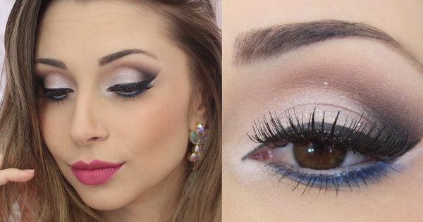 Ideias de maquiagem para vestido azul