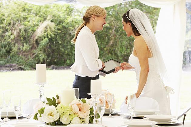 converse com os fornecedores de casamento
