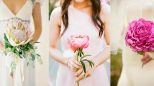 buquê de noiva flor única