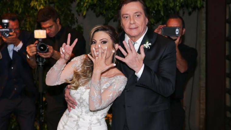 Fábio Jr se casa pela sétima vez