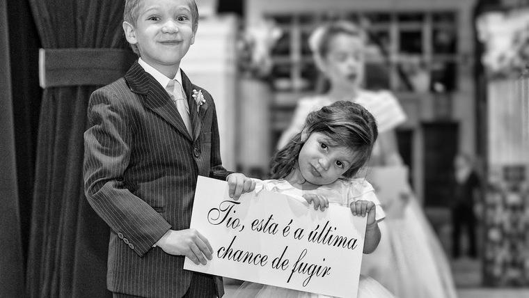 Plaquinhas divertidas para entrada da noiva
