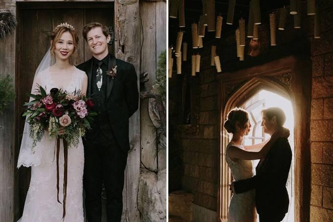 Casal se inspira em Harry Potter para a festa de casamento
