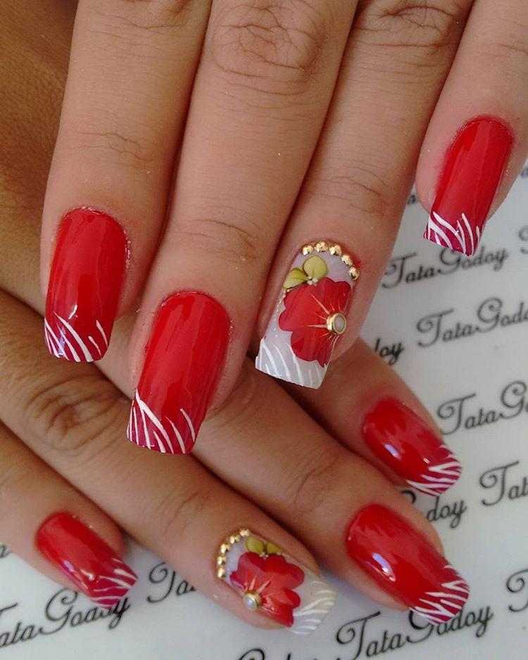 10 modelos de unhas decoradas para as noivas brilharem As Lembrancinhas de Casamento -> Decoracao Unhas Vermelhas