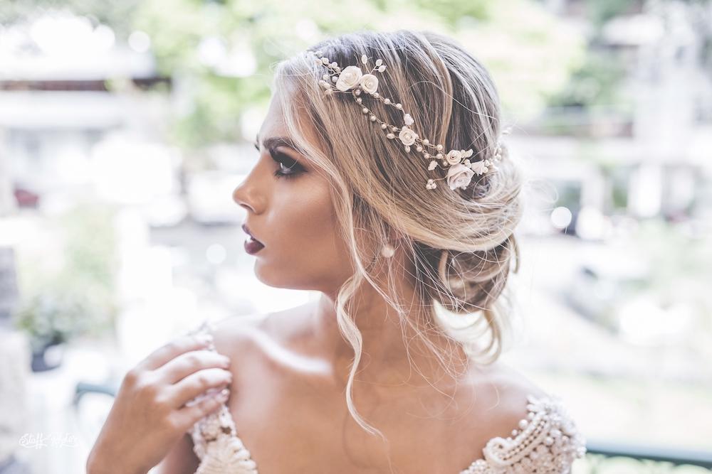 Tiara de noiva alfazema