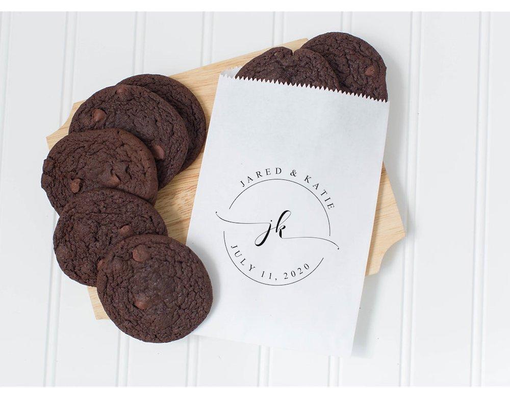 Cookies com nome dos noivos - Lembrancinhas de casamento